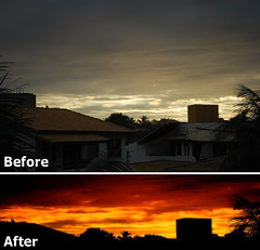 Sunset, Before and after | by daniel.sound