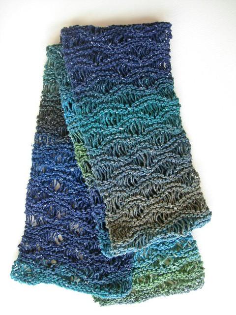 Kudo Waves Scarf Free Pattern From Plymouth Yarn Jen Flickr