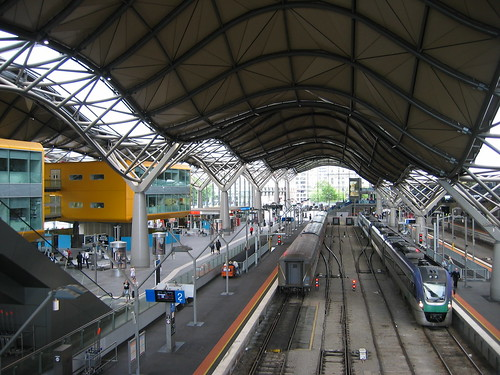 southern cross railway station melbourne view from. Black Bedroom Furniture Sets. Home Design Ideas