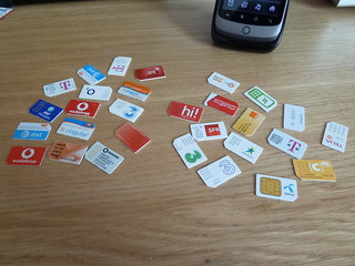 30 SIM cards (#30 is in my Nexus One) | by mroach