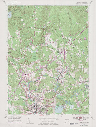 Ashaway Quadrangle 1975 - USGS Topographic Map 1:24,000 | by uconnlibrariesmagic