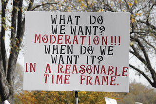 What do we want - Moderation | by Scott Ableman