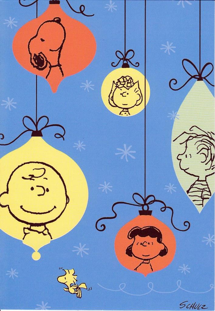Hallmark Peanuts Ornament Characters Christmas Card | Flickr