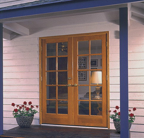 341 SIMPSON 10 LITE FRENCH DOORS | Standard Vertical Grain Du2026 | Flickr