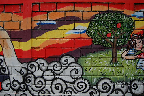Inspiration from apple tree left mural of bonbin for Apple tree mural