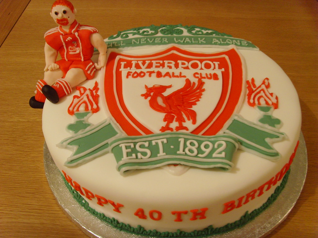 Liverpool Football Birthday Cake Liverpool Football Emblem Flickr