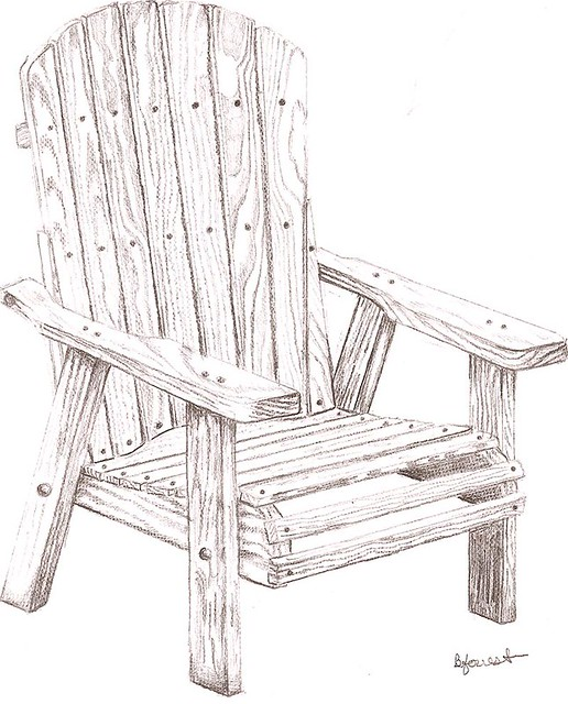 Wooden chair sketch this technical drawing was done on