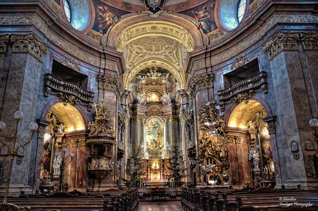 St peter 39 s church baroque iv vienna the baroque for Churches of baroque period