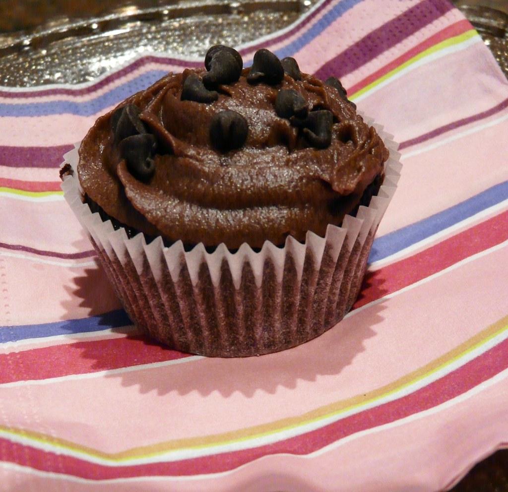 Cup Cake Chocolat Noir Sans Oeuf