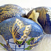 Indigo Blue Origami Decoupage Easter Eggs