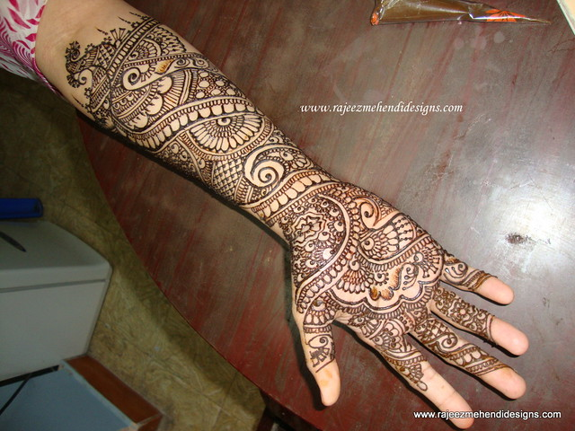 Mehndi For Front : Archana s front hand bridal henna design my very first