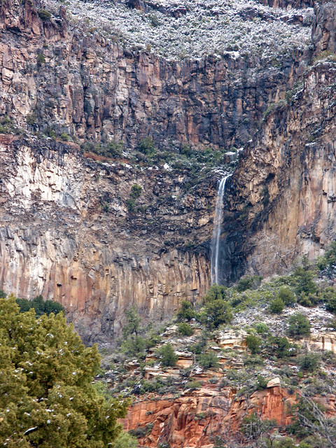 R3 2 Sign >> Encinoso Falls in the Red Rock Ranger District   The rare ...