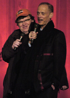 Michael Moore & John Waters at the Traverse City Comedy Arts Festival | by tcfilmfest