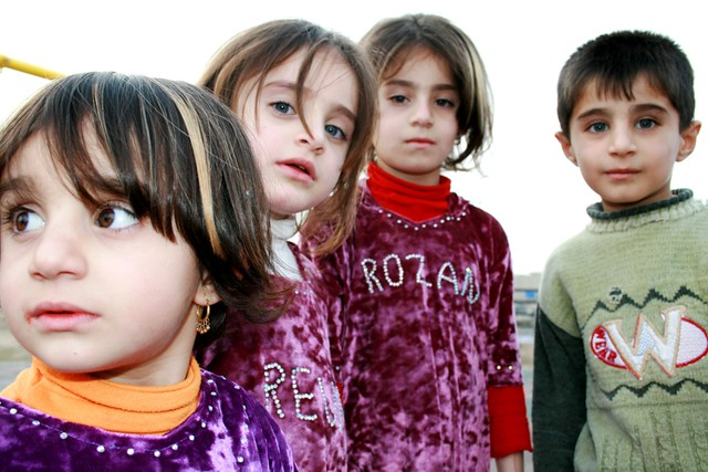kurdish child 3 sisters a brother niaz jamil flickr. Black Bedroom Furniture Sets. Home Design Ideas