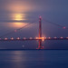Hazy Golden Gate Bridge Moonset