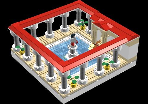 Model of roman bath house