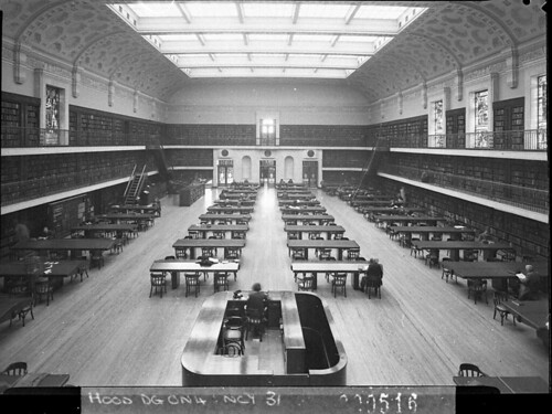 The Reading Room, Public Library of NSW, 1942, by Sam Hood | by State Library of New South Wales collection