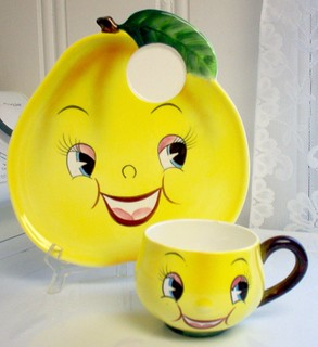PY Anthropomorphic Pear Face Snack Set | by Cathygio