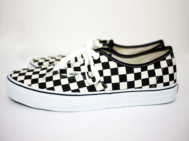 vans authentic checkerboard for sale