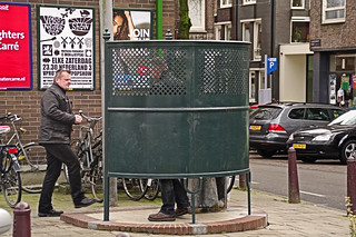 Part of Amsterdam's charm: out in the open - the free public urinals for men | by Amsterdam Today