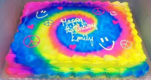 Tie Dye Cake Images