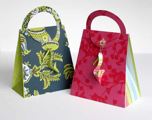Paper craft purse and shoe paper purse and shoe combo for Craft paper gift bags