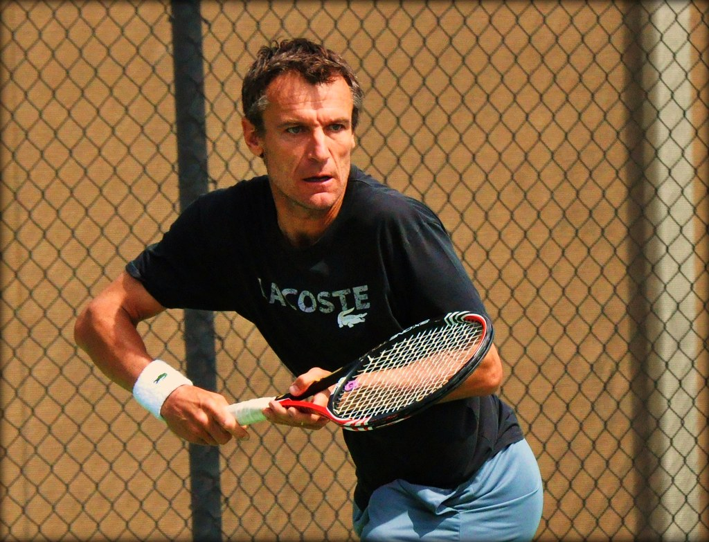 Mats Wilander exhibition at the Boise Racquet Club