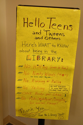 Teen Behavior Sign at Walt Branch | by BookGuide at LCL