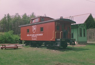 Restored Delaware and Hudson caboose, Greenfield Center, NY | by chuckthewriter