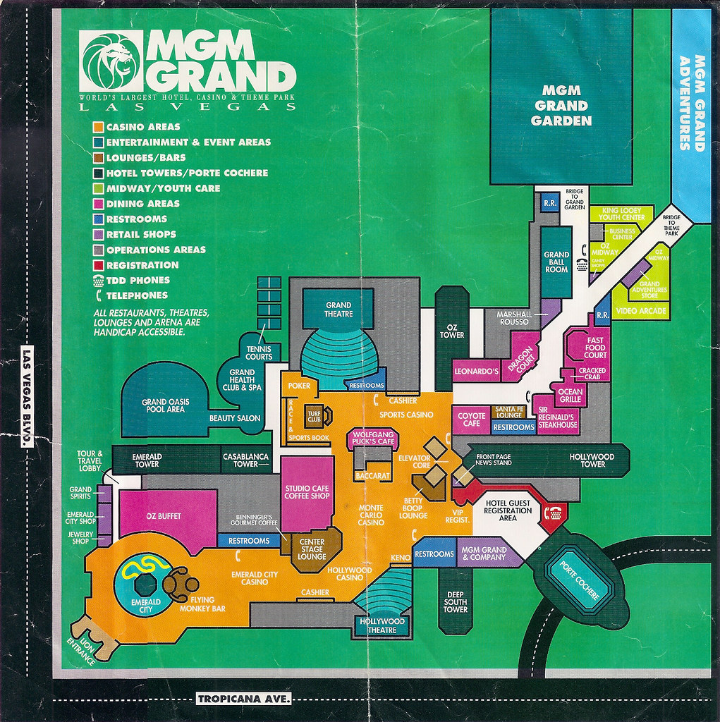 Mgm Grand Map MGM Grand Guest Map | An opening year map of the hotel and c… | Flickr Mgm Grand Map