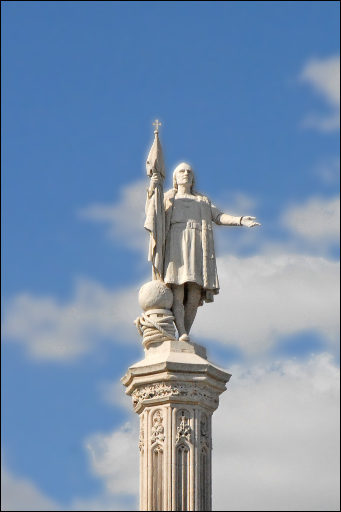 La Statue De Christophe Colomb  Madrid