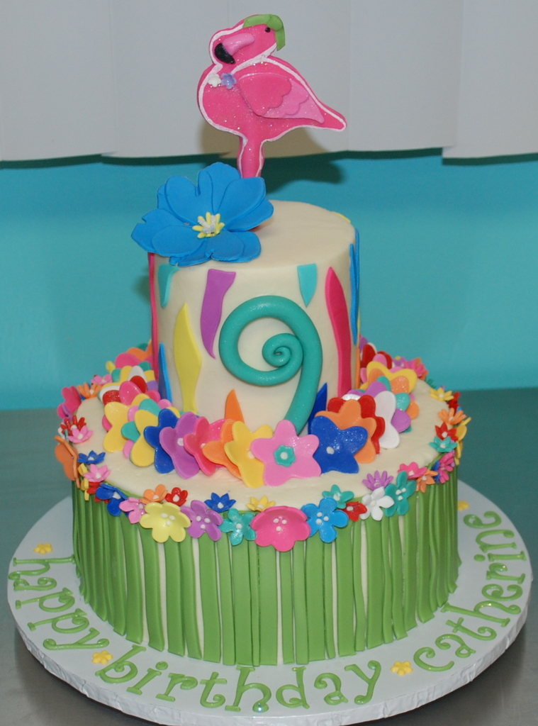 Luau Birthday Cake Heres The Cake I Worked On Today Its Flickr