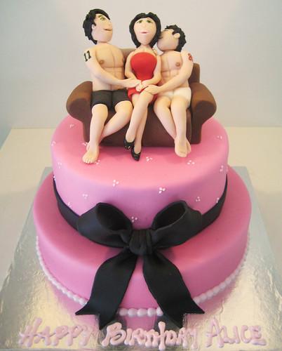 Sexy Men Happy Birthday Cake