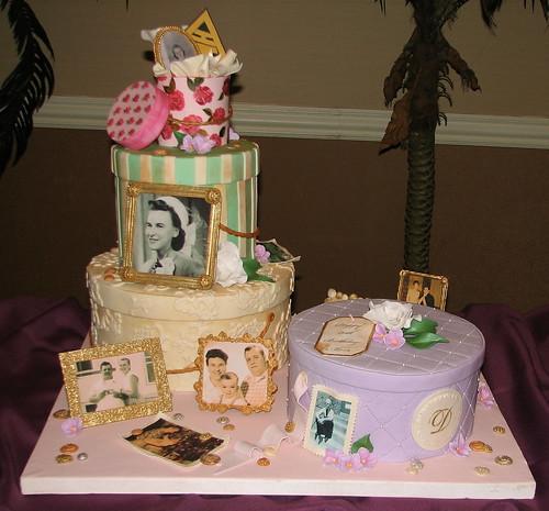 Hatbox Full Of Memories Cake