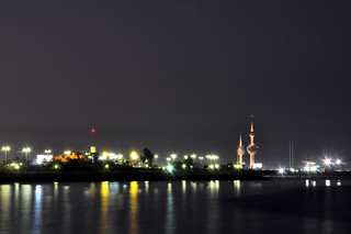 Kuwait Towers at night | by divya_