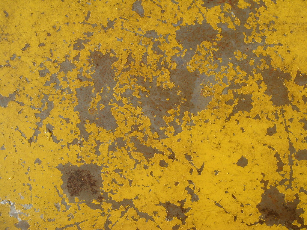 Rusting yellow metal texture michael sutton long flickr for Metallic yellow paint