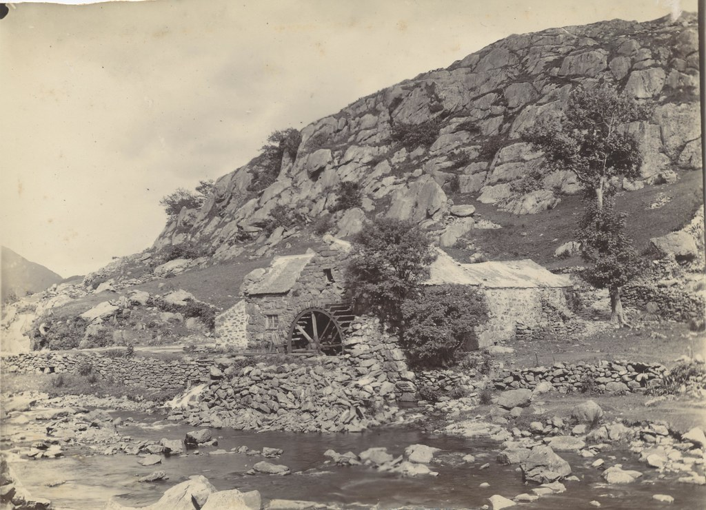 Late 1800s Early 1900s Photograph Of Watermill Possibly Ne