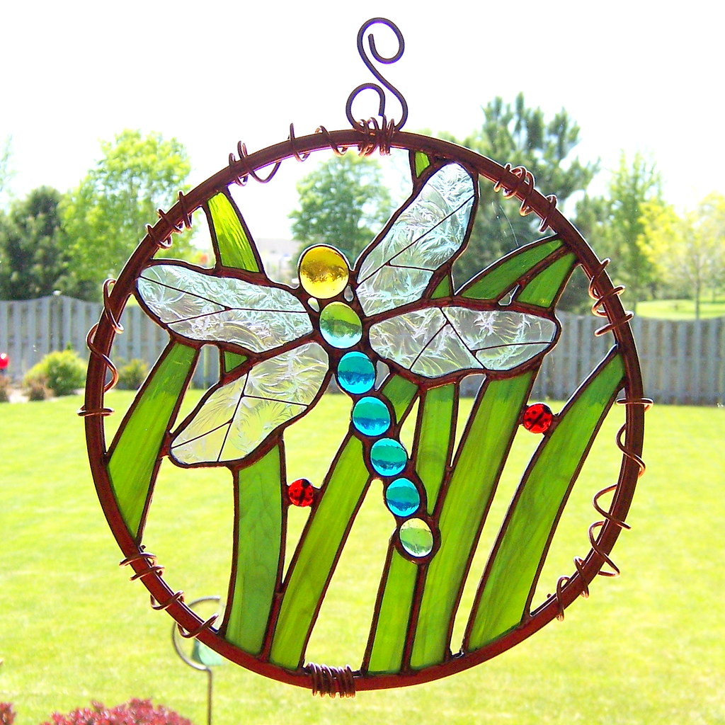 ... Dragonfly Stained Glass Garden Art | By Good Grief Glass