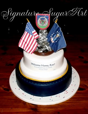 Air force welcome home cake terri goodwin flickr for Air force cakes decoration