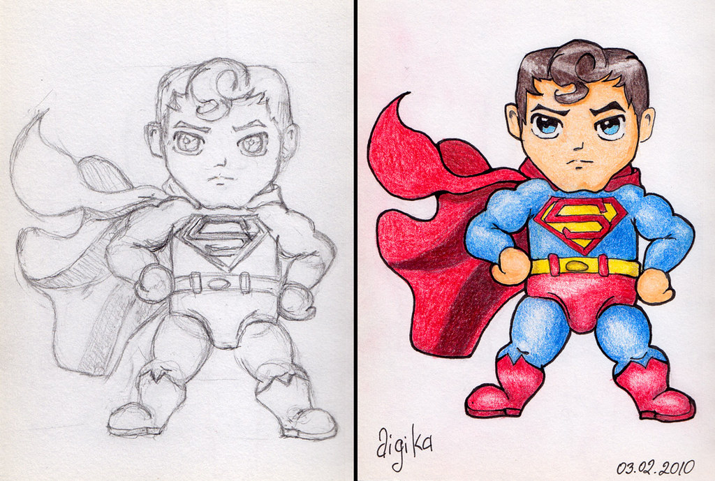 Superman Chibi Drawing Superman Chibi | Flickr