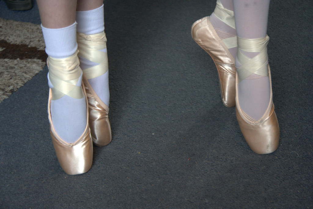 White Pointe Shoes Instagram