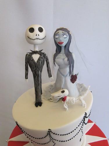 Jack Skellington Corpse Bride And Their Skeleton Dog