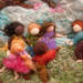 Needle Felted Sculptural Wool Painting Come Play With Us bas Relief2wma