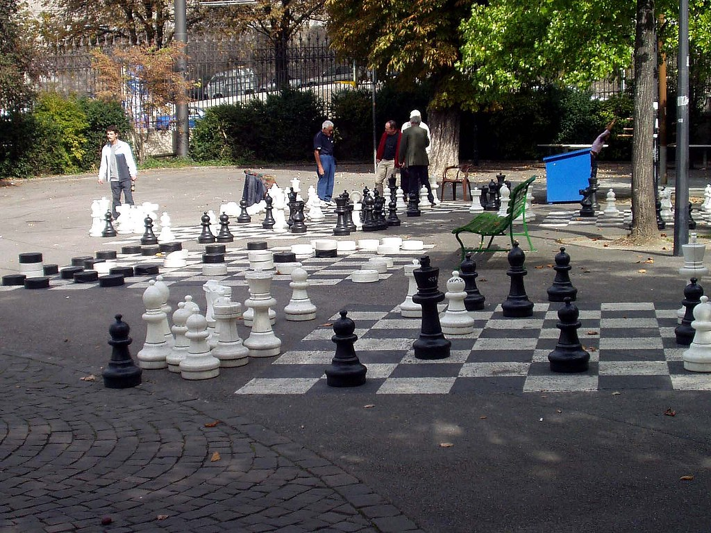 giant chess in bastions park geneva switzerland flickr. Black Bedroom Furniture Sets. Home Design Ideas