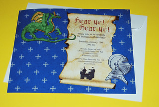 Knights and Dragons 4th Birthday Invitation | by Sweet Shoppe Mom and Simply Sweets