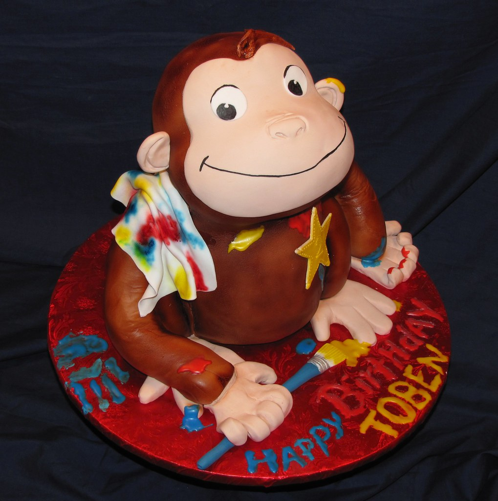 Curious George Cake Curious George Cake Head Was Rice