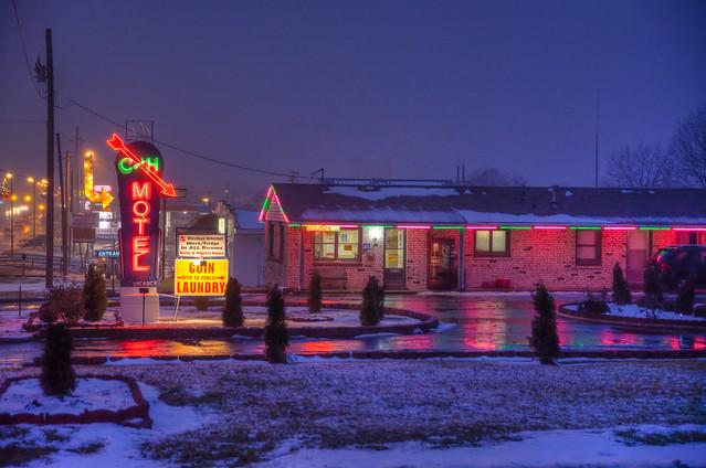 C and H Motel - 311 East Highway 54, El Dorado Springs, Missouri U.S.A. - December 30, 2009