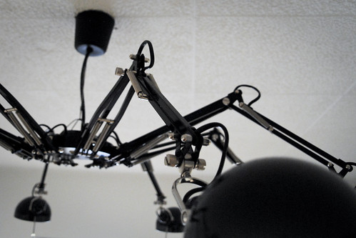 Spider lamp a ceiling lamp i made out of eight table for What is a spider lamp