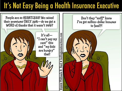 Cartoon: It's Not Easy Being a Health Insurance Executive | by M1khaela