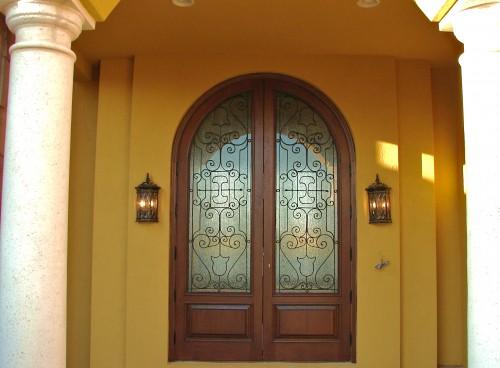 Mahogany Exterior Impact Doors Archtop Weston Florida Pro Flickr